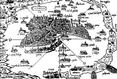 map of venice from 1536